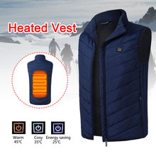 5-12v Down Cotton USB Body Warmer Electric Vest Heated Pad 2018 Hot Compress Jacket Winter Clothing