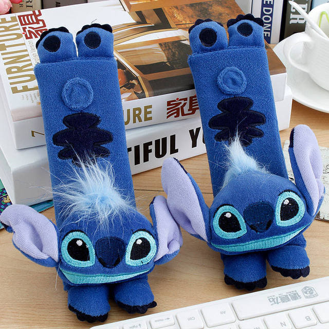 Tremendous Us 7 35 20 Off 2 Pcs Set Disney Mickey Mouse Stitch Car Seat Belt Pads Harness Safety Shoulder Strap Backpack Cushion Pillow For Adult Kids In Spiritservingveterans Wood Chair Design Ideas Spiritservingveteransorg