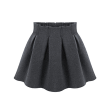 Four Colors Woolen Pleated Skirt Women Winter Thin High Waist A- Line Skirts Fashion Temperament Solid Color Plus Size 2XL C545