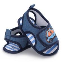 Baby Boys Shoes Infant Toddler Car Print Crib Footwear Blue