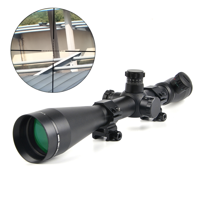 LEUPOLD 6-24x50 M1 Hunting Scopes Optics Rifle Scope Red and Green Dot Fiber Reticle Sight Tactical 11mm / 20mm Rail Riflescope tactical 4x32 rifle scope red dot green optics fiber hunting shooting m9430