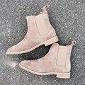 2017 diseñador de la marca botas chelsea Acevedo slp Cuero Genuino botines casuales para hombre del estilo de Europa occidental botas los hombres zapatos Entrenadores
