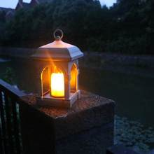 Solar Garden Light LED Solar Candle Lantern Courtyard Light Outdoor Garden Solar Light Hanging Solar Lamp Decorative Lights,1PCS