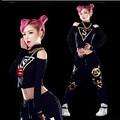 Мода sexy бретелек ультра-короткие топ хип-хоп хип-хоп хип-хоп ds костюм