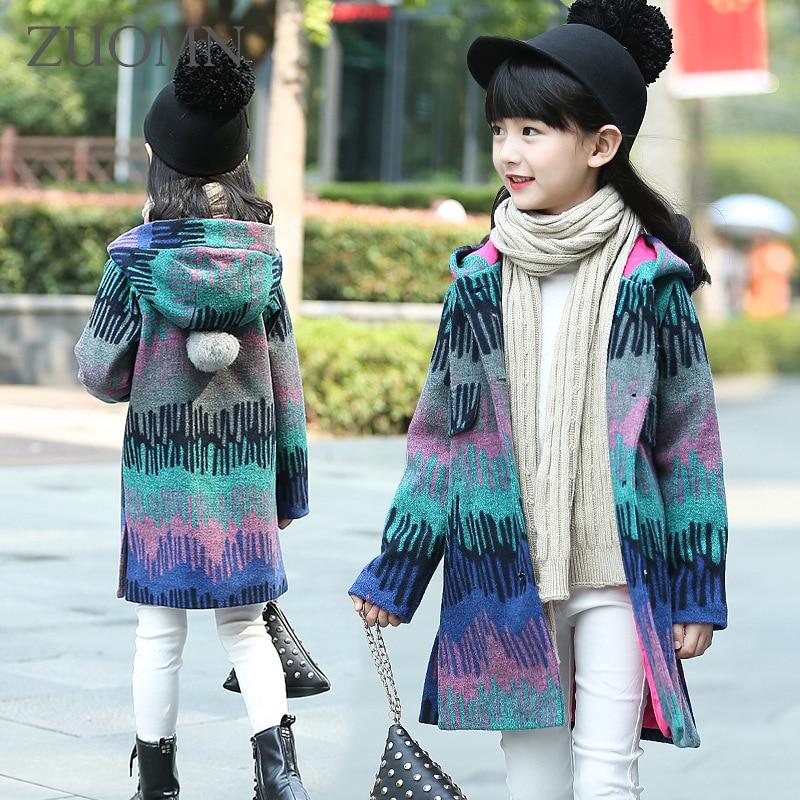 Kerst Meisjes Jassen en Jassen Winter Meisjes Hooded Kinderjas Menina - Kinderkleding