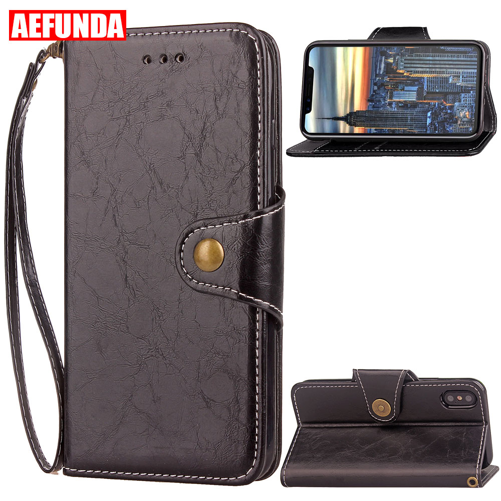 Luxury PU Leather Flip Open Book Phone Stand Case For iPhone 7 8 X 6 Plus 6S 5S 5 S SE Holster Card Slot Wallet TPU Cover