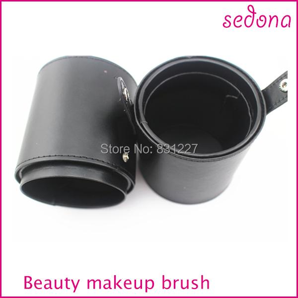 Caso Pincel de Maquiagem profissional, Caso Sedona Pincel de Maquiagem Preta, Cilindro Escova Cosmética Caso 10*10*20 CM
