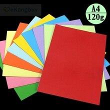 100 листов 120 г A4 цветная копировальная бумага для детей ручной работы и рисунком в виде птичек-оригами Бумага