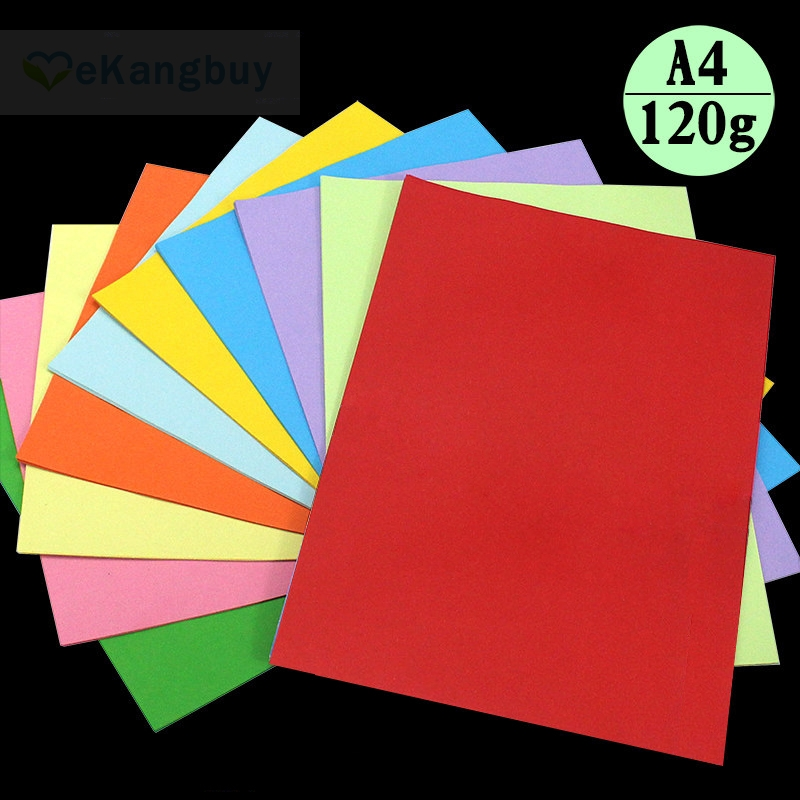 100sheets 120gsm A4 Color Copy Paper Kids Handicraft Origami Paper