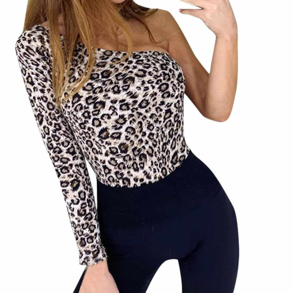 14260352f2 ... 2018 Fashion Women Leopard Print Bodysuit Hot Sale Skinny Casual  Jumpsuits Rompers Night Club Party Cloth ...