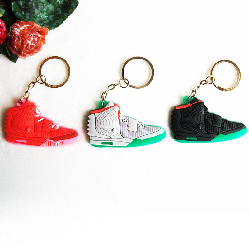 Mini Silicone Sneaker Jordan Shoes Keychain Key Chain Car Key Holder Woman Men Bag Charm Accessories Key Rings Pendant Gifts