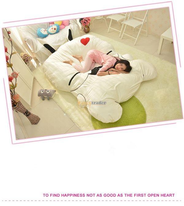 Fancytrader 270cm X 160cm Giant Soft Plush Stuffed Double Size Rabbit Bunny Mattress Carpet Tatami Bed, FT50680 (6)