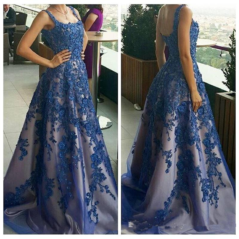 a51b7987b62e Shining navy blue long prom dress 2019 off shoulder appliques lace ...