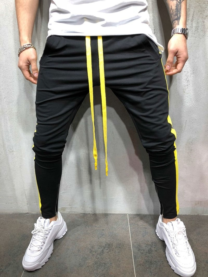 Zogaa New Men's Hip Hop Sweatpants Fitness Joggers Spring Male Side Stripe High Street Hip Long Trousers Harem Pants Sweatpant