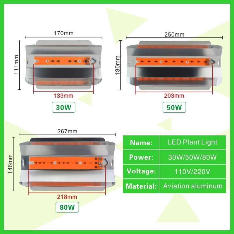 Светодиодный светильник LATTUSO 30 Вт 50 Вт 80 Вт высокой мощности полный спектр переменного тока 110 В 220 В светодиодный светильник для выращивания растений