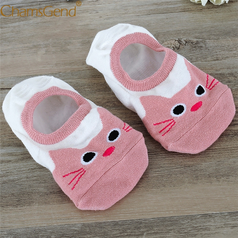 Chamsgend Hot Women Comfortable Cute Animal Cartoon Print Anti-Slip Low Cut Short Sock Slippers Meias 80125