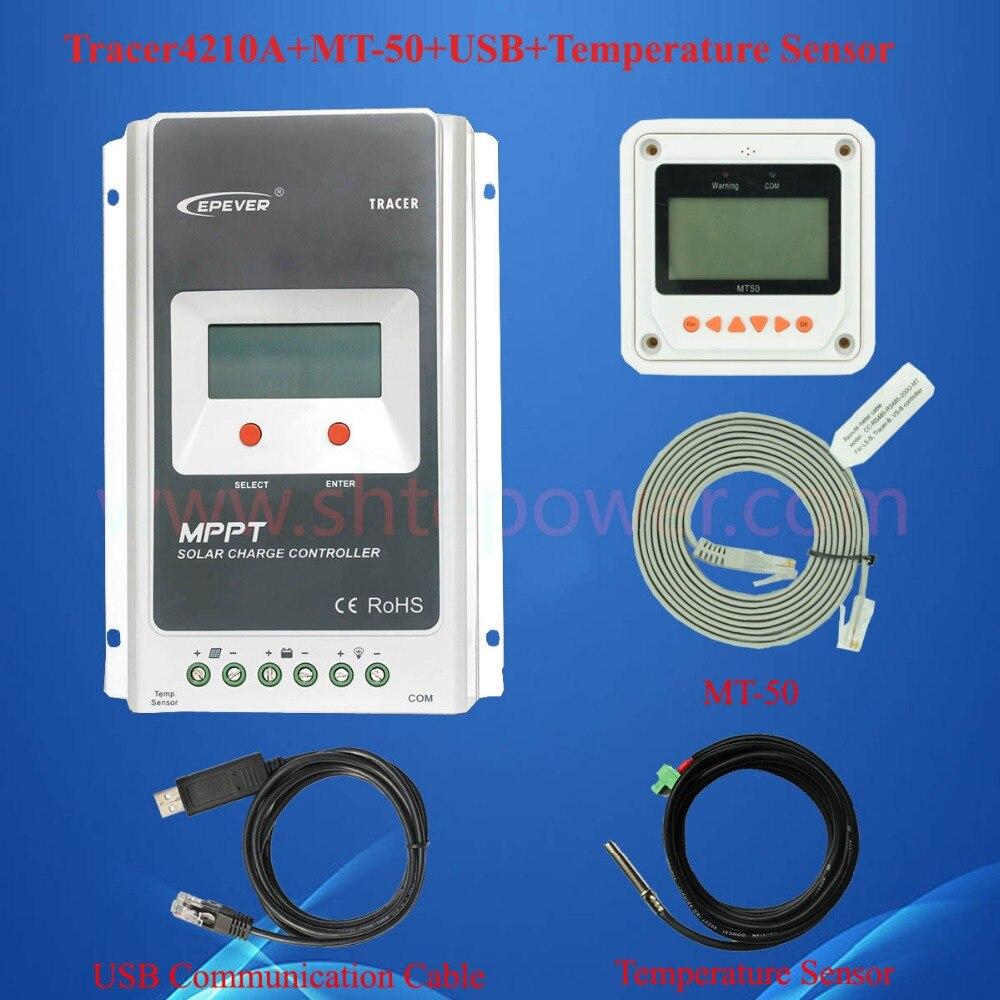 40A 12 В PV регулятор, 12 В 24 В Авто использование системы MPPT Контроллер заряда 40amp max 100 В вход с mt50 ЖК-дисплей и USB и сенсор