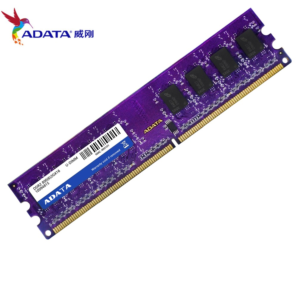 AData DDR2 2GB RAM 800MHZ PC2-6400U 240PIN U-DIMM Desktop memory
