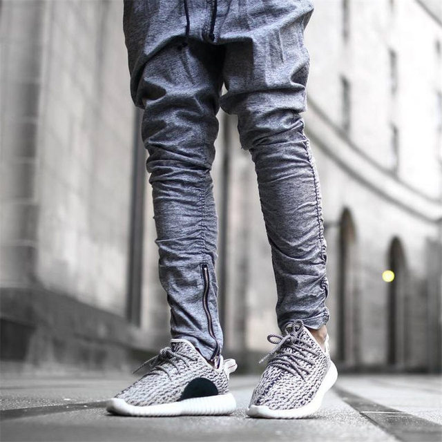 2017 Pantalones Para Hombre Joggers Sweatpants Justin Bieber Kanye temor a Dios Mono Ropa Urbana Hombres Harem Ocasional Pantalones
