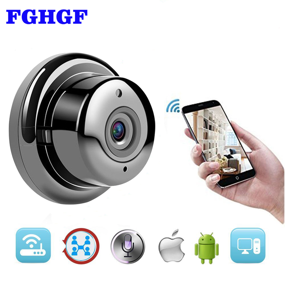 FGHGF Wireless IP Camera HD 720P Mini Wifi Camera Network P2P Baby Monitor 960P CCTV Security Video Camera with IR-cut Two Way