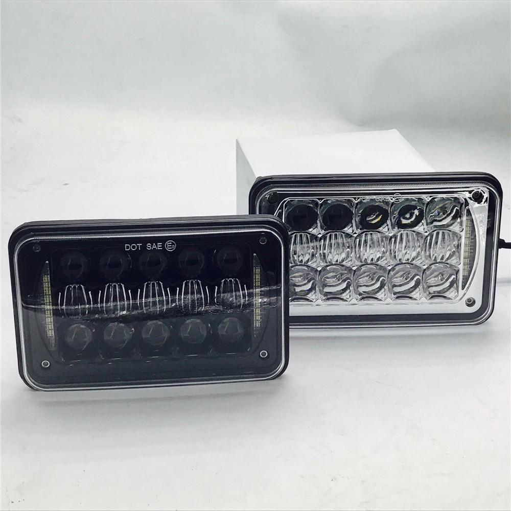 2X Black  4x6 LED Projector Headlight  5D 45W Sealed Beam Square Headlight W/ DRL Replacement HID Xenon H4651 H4652 H4656 H4666 агхора 2 кундалини 4 издание роберт свобода isbn 978 5 903851 83 6