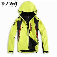 Soyez un loup randonnée Softshell vestes hommes Sport de plein air vêtements de pêche Camping ski pluie coupe-vent imperméable veste d'hiver