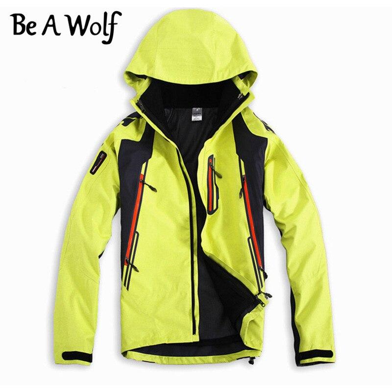 Être Un Loup Randonnée Softshell Vestes Hommes Sport En Plein Air Vêtements De Pêche Camping Ski Pluie Coupe-Vent Imperméable Veste D'hiver