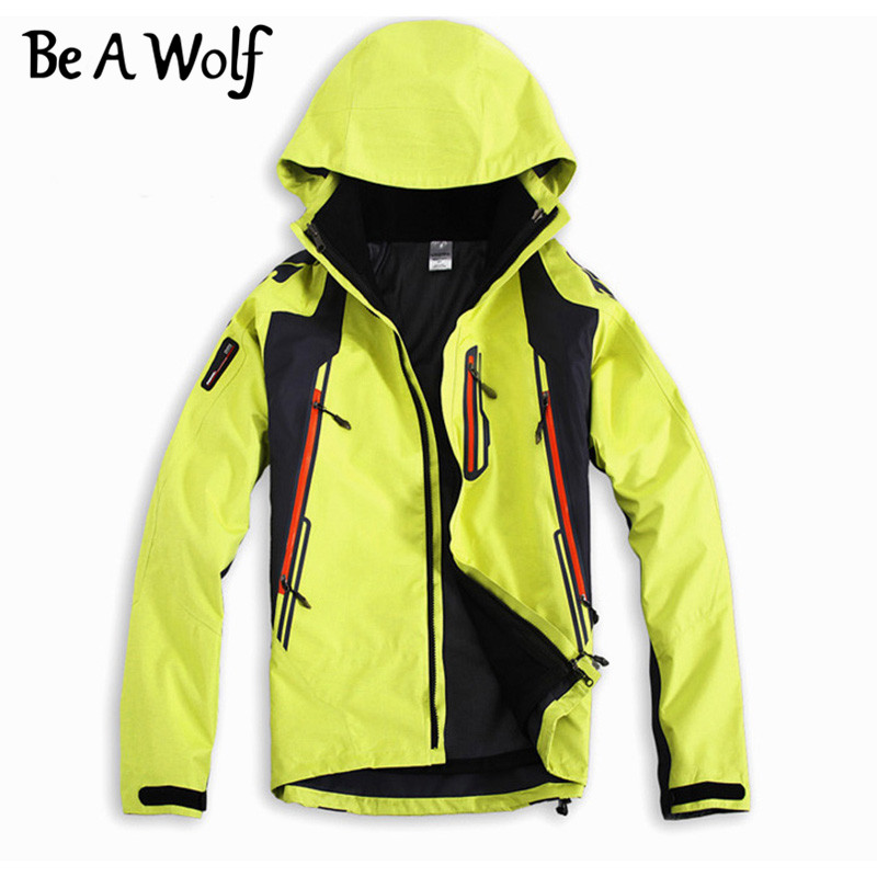 Be A Wolf Hiking Softshell Jackets Men Outdoor Sport Fishing Clothes Camping Skiing Rain Windbreaker Waterproof Winter Jacket dropshipping winter hiking softshell jackets men outdoor fishing clothes camping skiing rainwindbreaker waterproof jacket