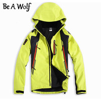 Be A Wolf Winter Hiking Softshell Jackets Men Outdoor Fishing Clothes Camping Skiing Rain Windbreaker Waterproof