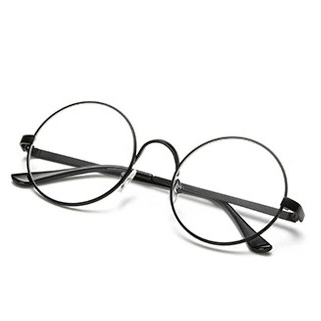 15051190ab Male Female Optical Circle Plain Mirror Men women Round Sunglasses Retro  Metal Frame Eyeglasses Korean Clear Lens Glasses