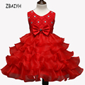 Christmas Party Dress For Girls Children's Clothes  Princess Sleeveless Bowknot Dresses Carnival Costumes Child New Year Dress