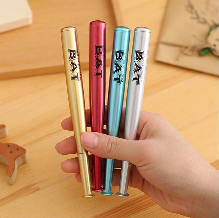 1 Piece Korean Stationery Cute Baseball BAT Lovely Candy Colors Gel Pens Student School Supply