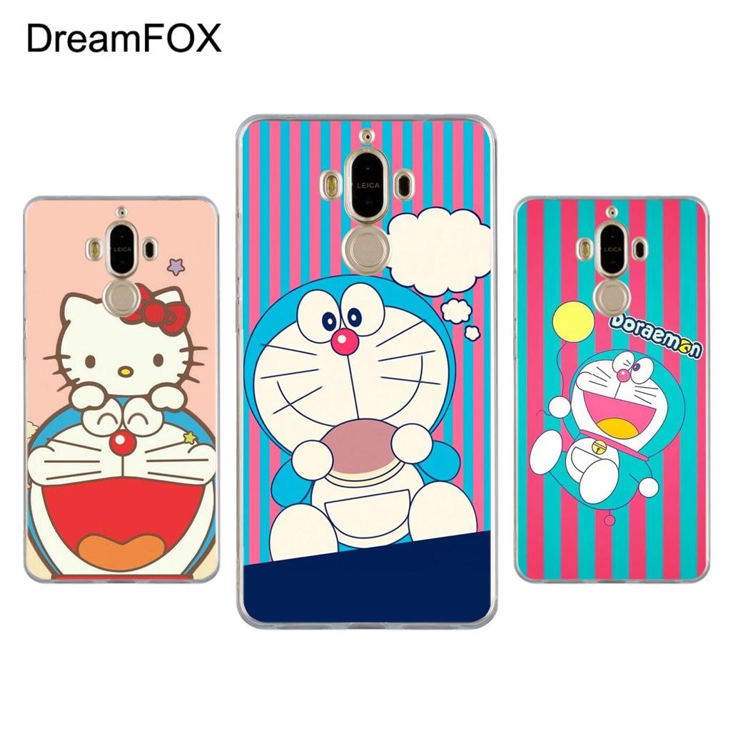 DREAMFOX L429 Fashion Cute Doraemon Soft TPU Silicone Case Cover For Huawei Mate G 7 8 9 10 Nova 2 Lite Pro Plus