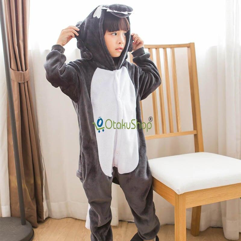 2018 New Animal Cute Wolf Flannel Pajamas Children Soft