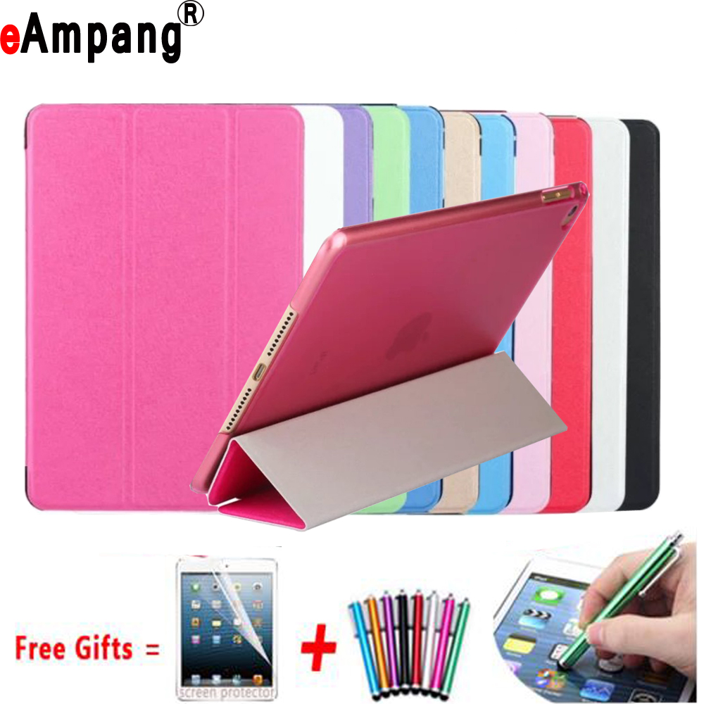 Slim Silk Pattern Leather Trifold Smart Wake Sleep Cover Case for Apple iPad mini 4 mini4 7.9 inch A1538 A1550 Coque Capa Funda