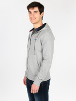 Gray sweatshirt hooded zipper
