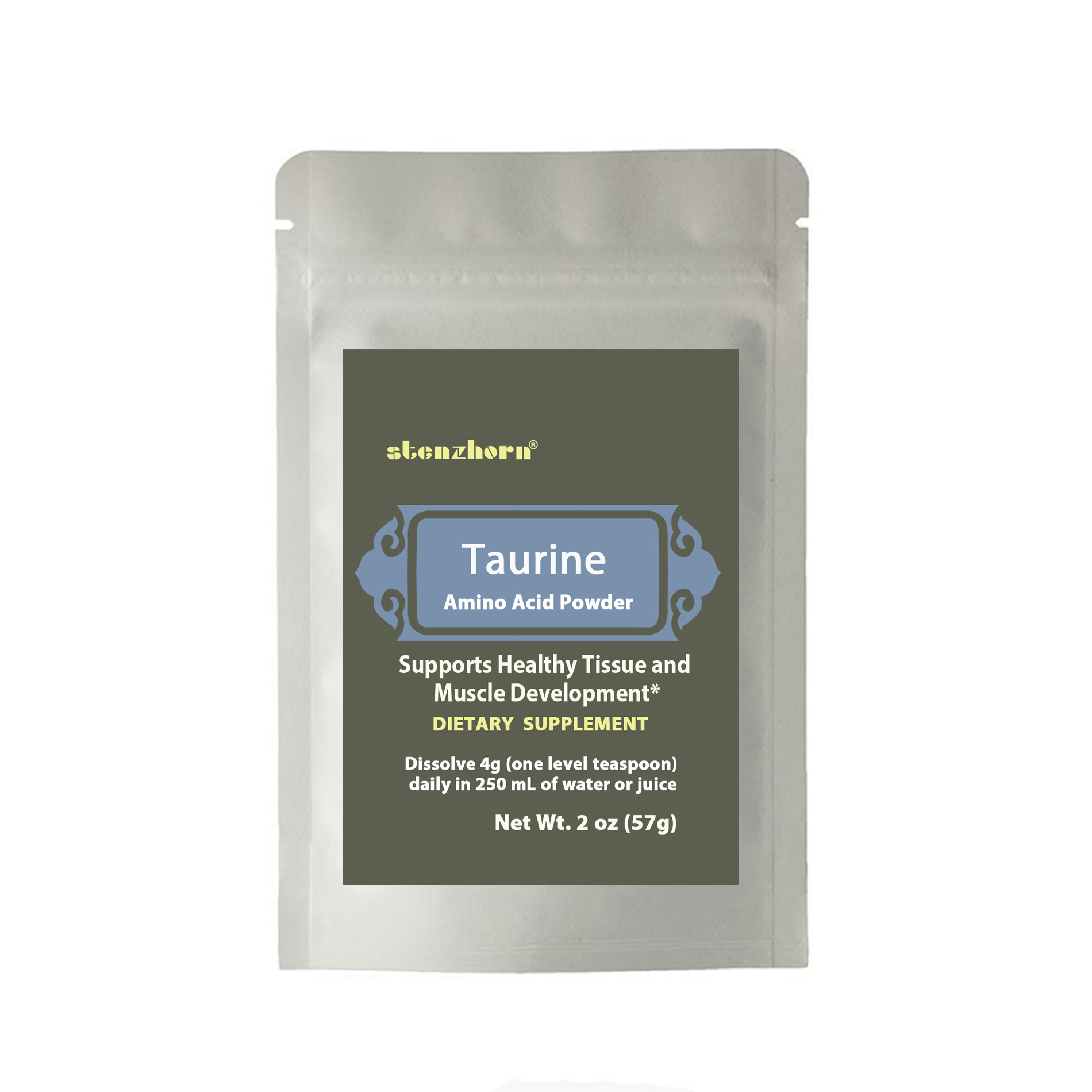 Taurine  Amino Acid Powder 2oz Supports Healthy Tissue And Muscle Development*