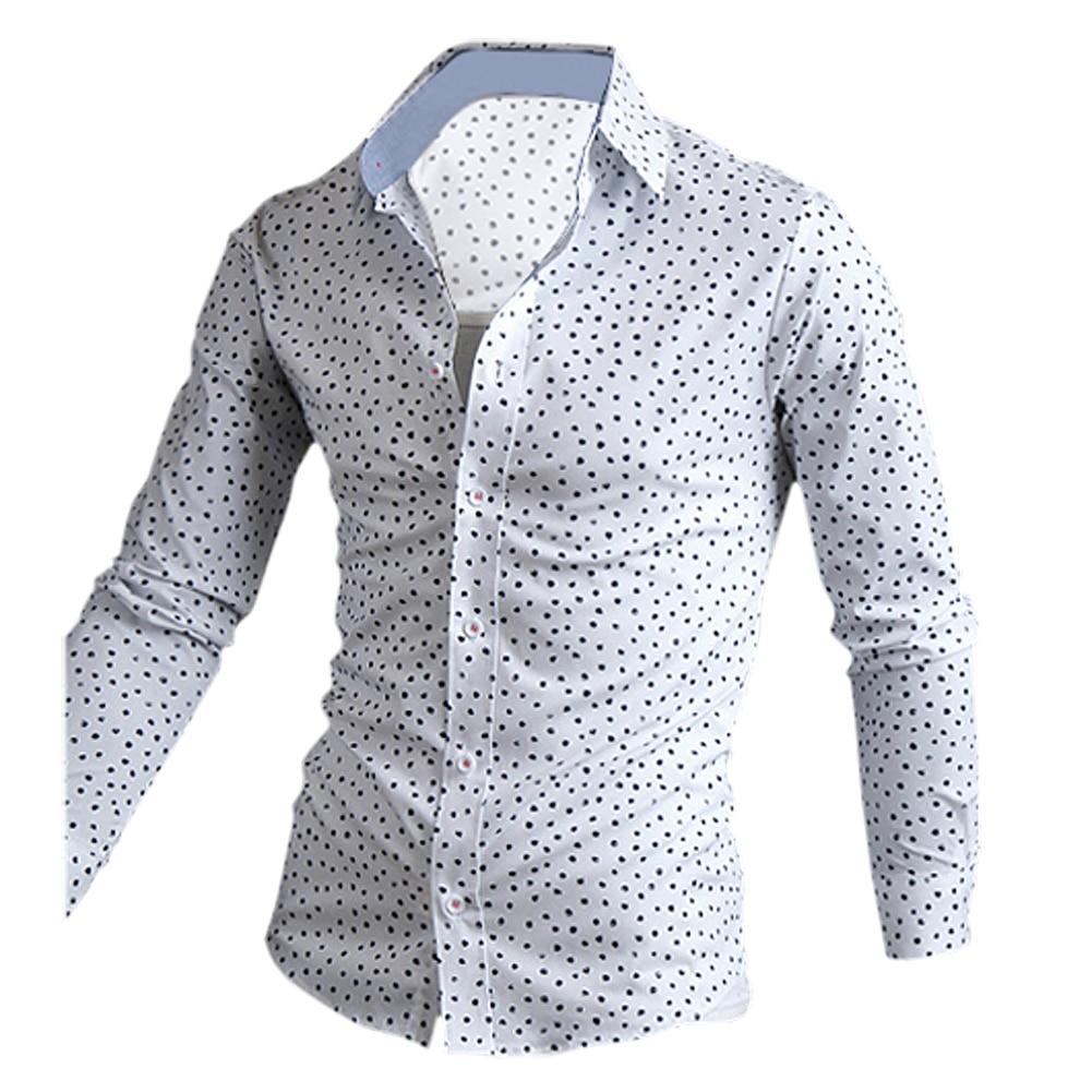 Mannen Mouw Nieuwe Hot Brand Heren Mode Lange Shirt Clothing YI9ED2WH
