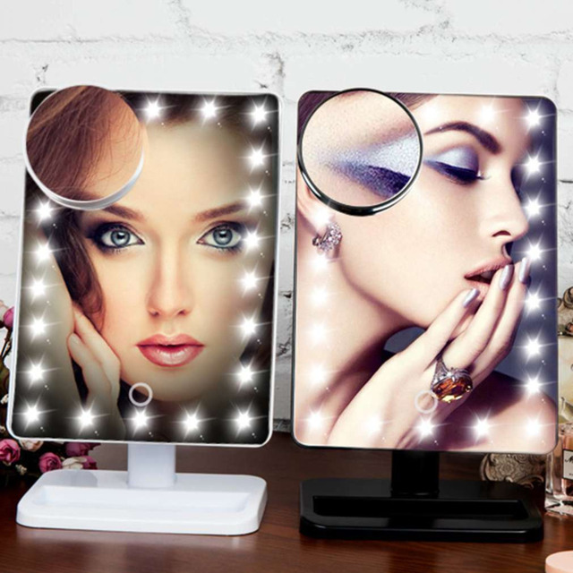 10X Magnifying Mirror Makeup Mirror Lights Cosmetic 20 LED Light Make Up  LED Touch Screen