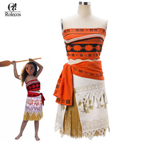 Rolecos Movie Moana Cosplay Costume Sexy Princess Costume Halloween Suit Princess Moana Osplay Customes For Adult