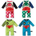 Auturn Baby Rompers Baby Shark Rompers Cotton Long Sleeve Jumpsuits 4 Colors for 0~2 Year H00179