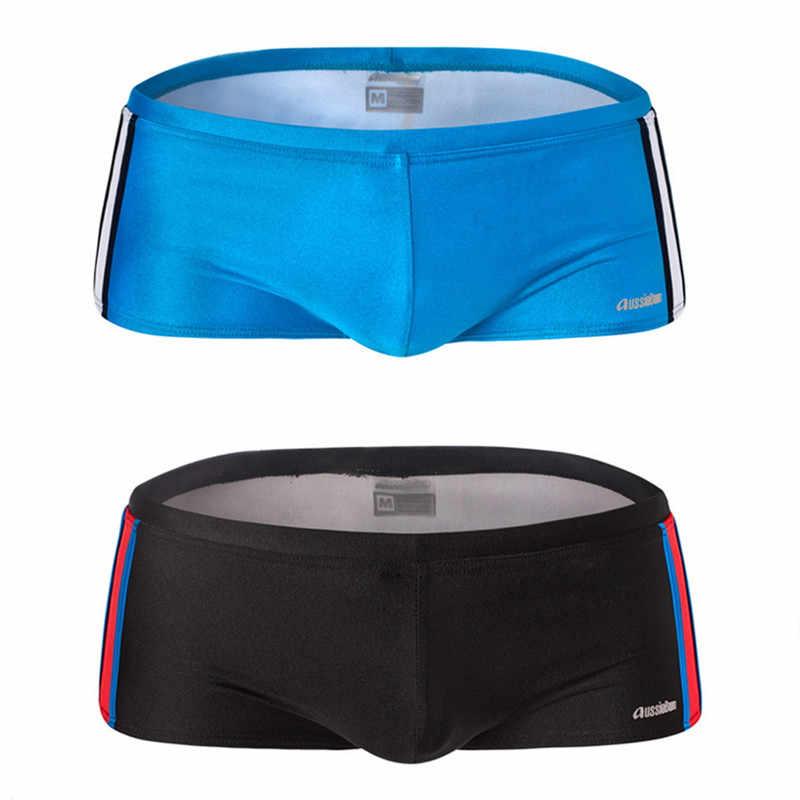 34044d63d693a Funfeliz Boxer Swimwear Men Teenage boy swimming trunks 8 colors Mens Swims  Brief Male Swimsuit Quality ...