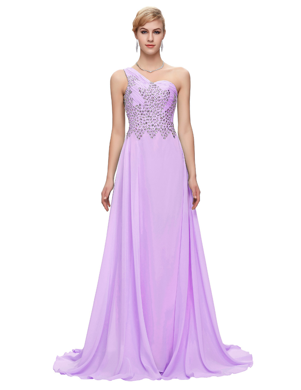 Light Pink And Navy Blue Bridesmaid Dresses - Flower Girl Dresses