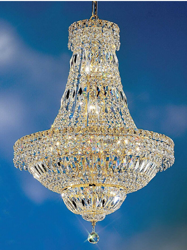 Phube <font><b>Lighting</b></font> French Empire Gold Crystal Chandelier Chrome Chandeliers <font><b>Lighting</b></font> Modern Chandeliers Light +Free shipping !