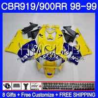 Body For HONDA CBR 900RR CBR 919RR CBR919RR 98 99 69HM.9 CBR900 RR CBR 919 RR CBR900RR CBR919 RR CAMEL yellow 1998 1999 Fairing