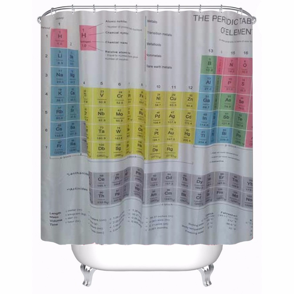 Table english pub table antique periodic table product on alibaba com - 180x180cm Periodic Table Of Chemical Elements Theme Bathroom Shower Curtain Polyester Waterproof Bathroom Set Mildew Resistan