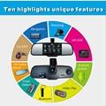 Multifunción HD 5''Rearview Espejo DVR + BT headset + WIFI + FM Transmisor + Parking + 3D de navegación En Vivo Android Espejo retrovisor GPS