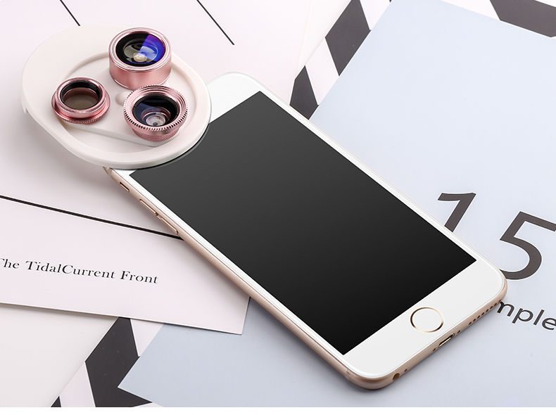 Fish eye Lens 4in 1 Clip-on Cell Phone Camera 180 Degree Fisheye Lens+Wide Angle CPL+Macro Lens for iPhone 7Plus Xiaomi & More 33