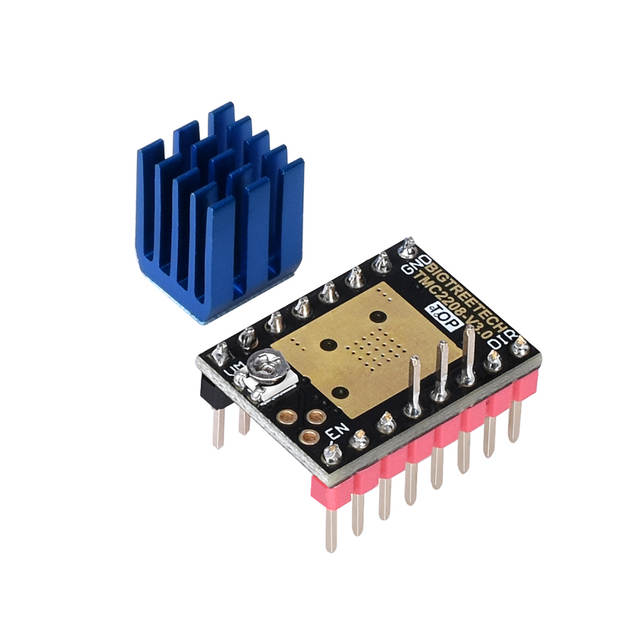 US $5 56 12% OFF|BIGTREETECH TMC2208 V3 0 Stepper Motor Driver UART  Stepstick VS TMC2130 SPI SKR V1 3 MKS GEN L Ramps 1 4 Board 3D Printer  Parts-in 3D
