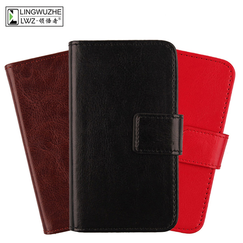 LINGWUZHE Business Solid color Wallet Design style mobile PU Leather phone shell Case Cover For UMI Hammer S 5.5 Dual Sim